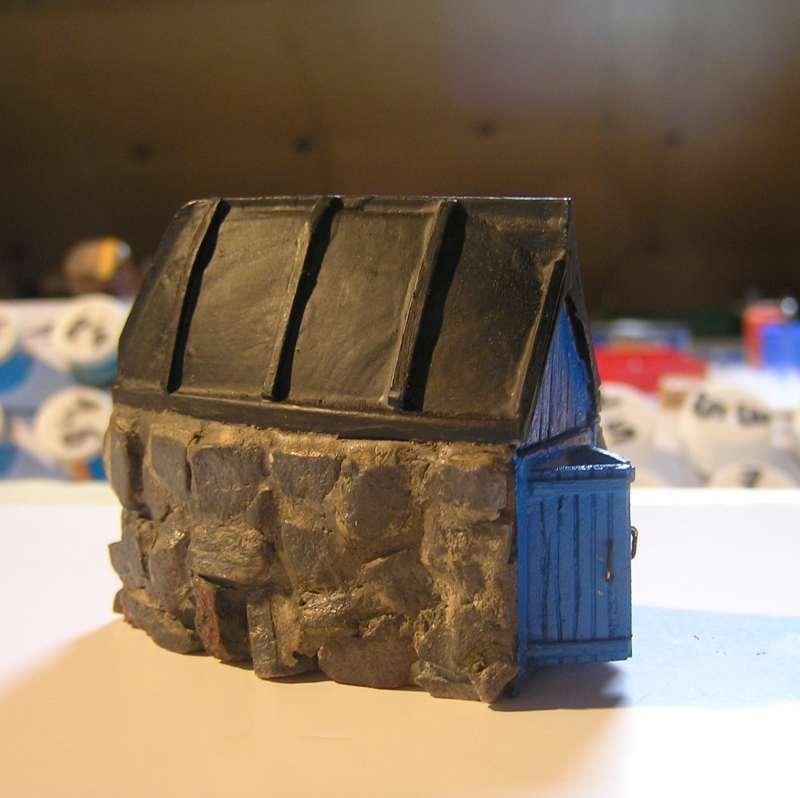 Les cabanes de Pot Rhu  toits en coque de moule Rhu910