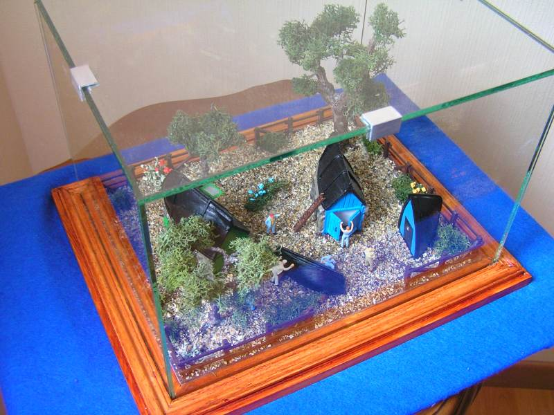 Les cabanes de Pot Rhu  toits en coque de moule Rhu_2210