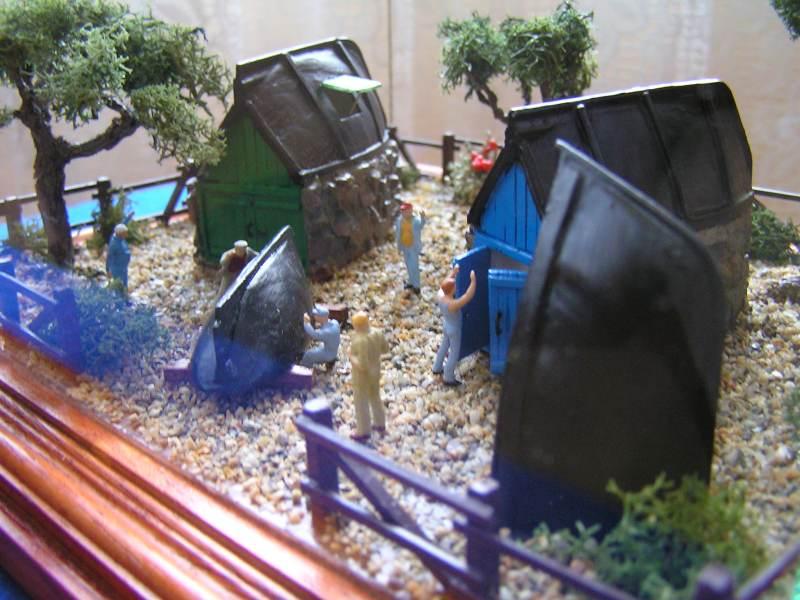 Les cabanes de Pot Rhu  toits en coque de moule Rhu_2410