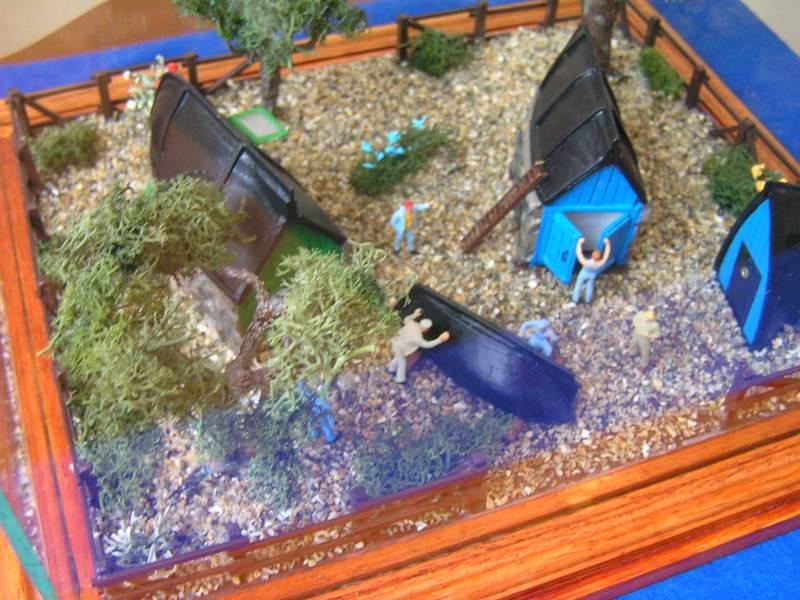 Les cabanes de Pot Rhu  toits en coque de moule Rhu_2810