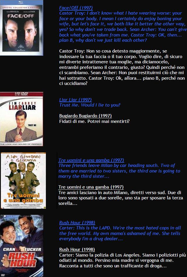 Suggerimenti FILMS M1010