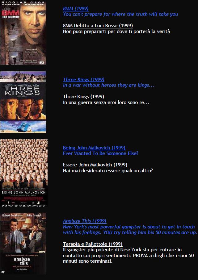 Suggerimenti FILMS M1210