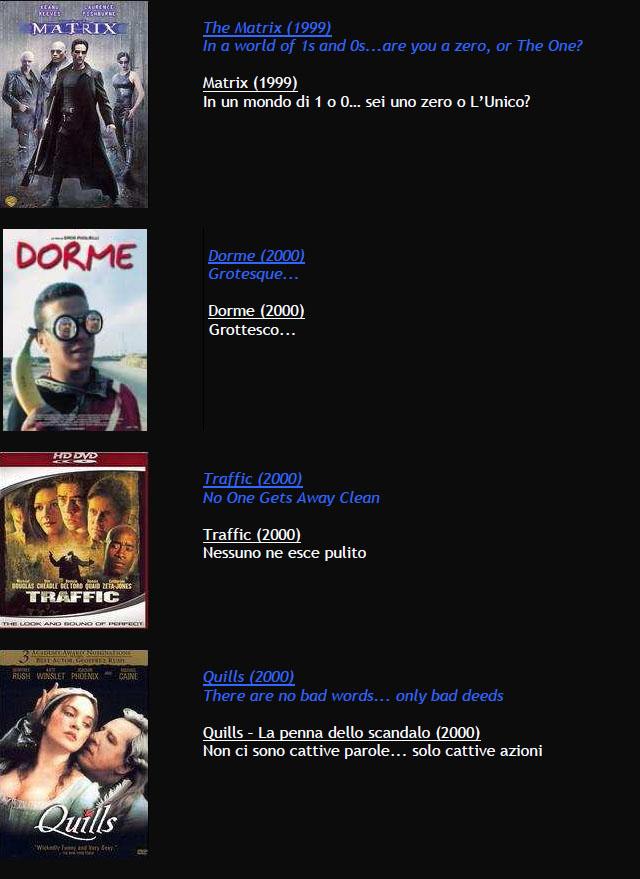 Suggerimenti FILMS M1310