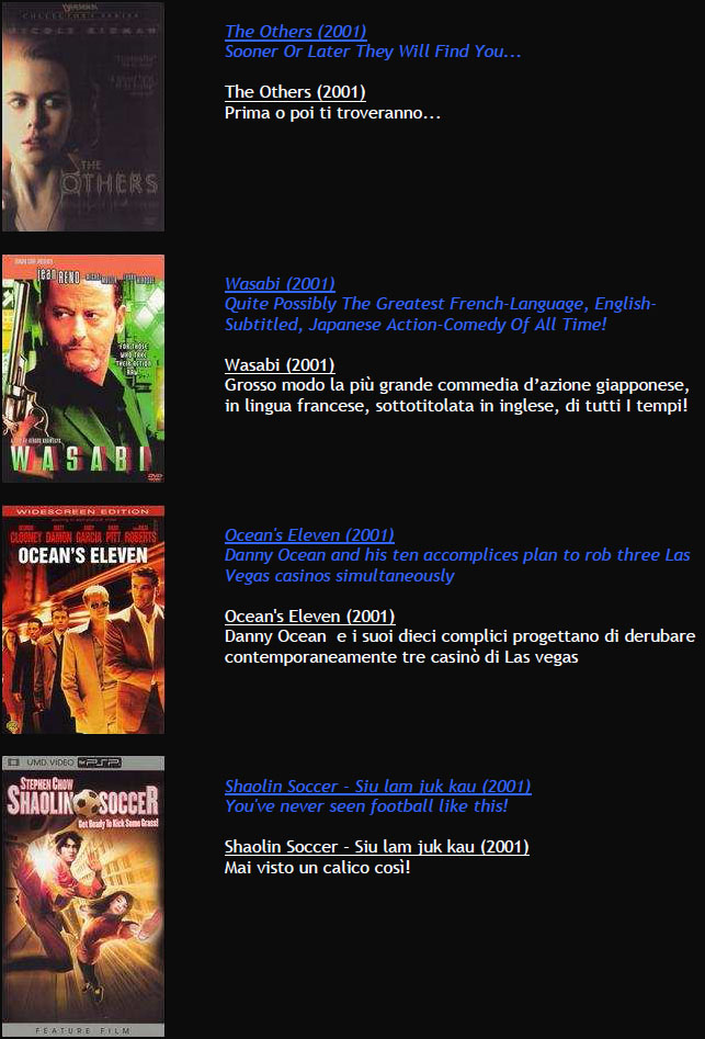 Suggerimenti FILMS M1410