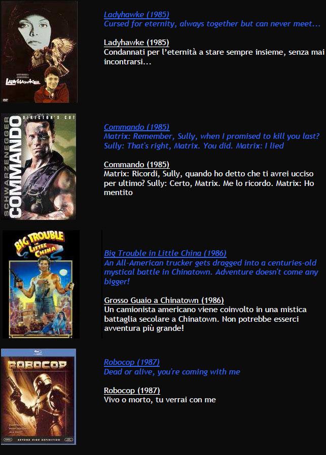 Suggerimenti FILMS M411