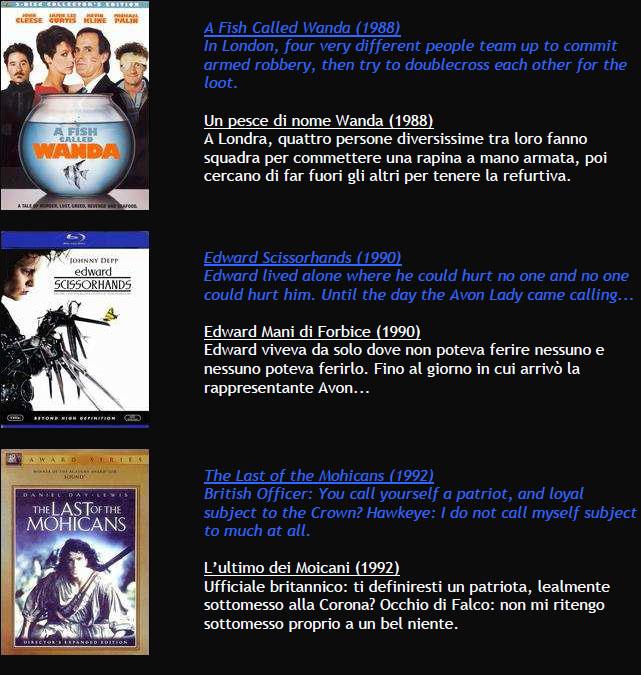 Suggerimenti FILMS M511