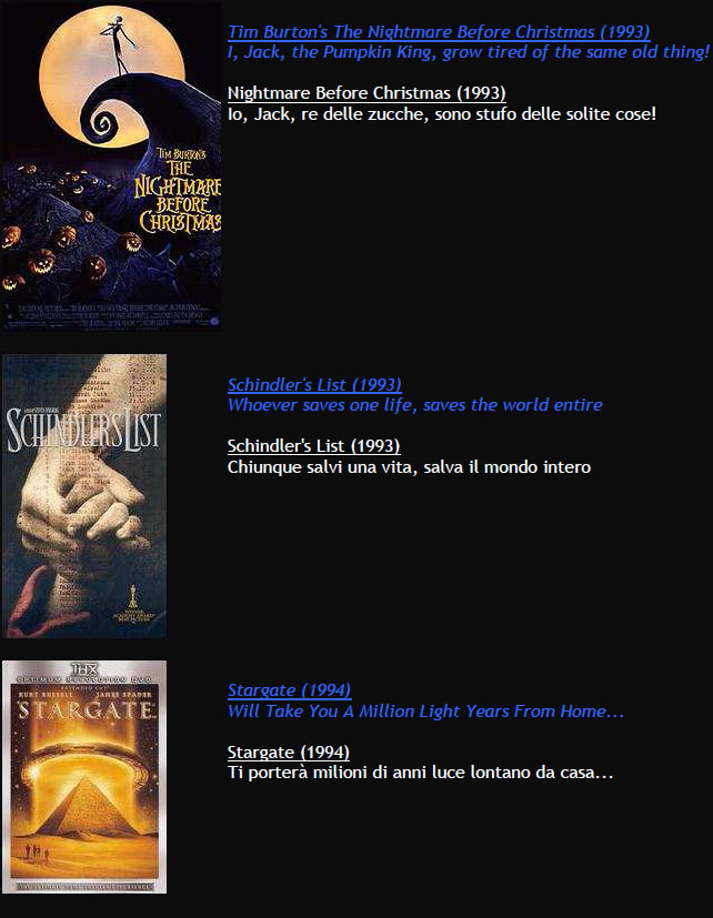 Suggerimenti FILMS M611