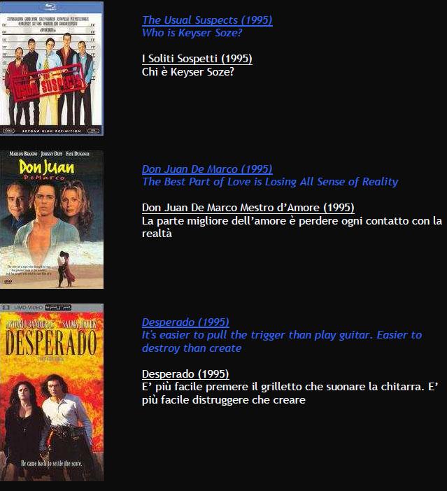 Suggerimenti FILMS M810