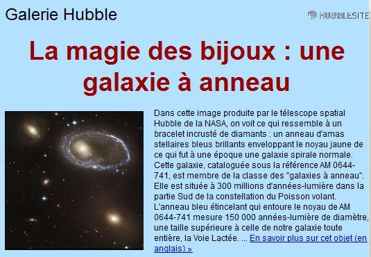 GALAXIE A ANNEAUX Anneau10