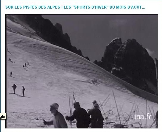 Ski d'été aux Grands Montets, document INA Ata10