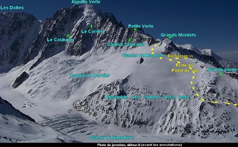 Grands Montets >>> glacier d'Argentière. Itiner10