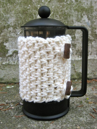 Mock Weave French Press Cozy Img_0511