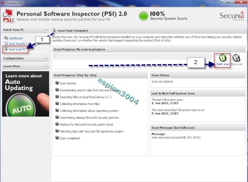 Secunia Personal Software Inspector (PSI) : Contre Les exploits et failles de sécurité dans les logiciels ! 05-06-11