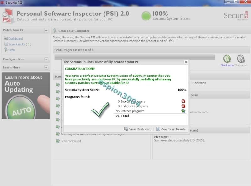 Secunia Personal Software Inspector (PSI) : Contre Les exploits et failles de sécurité dans les logiciels ! 05-06-12