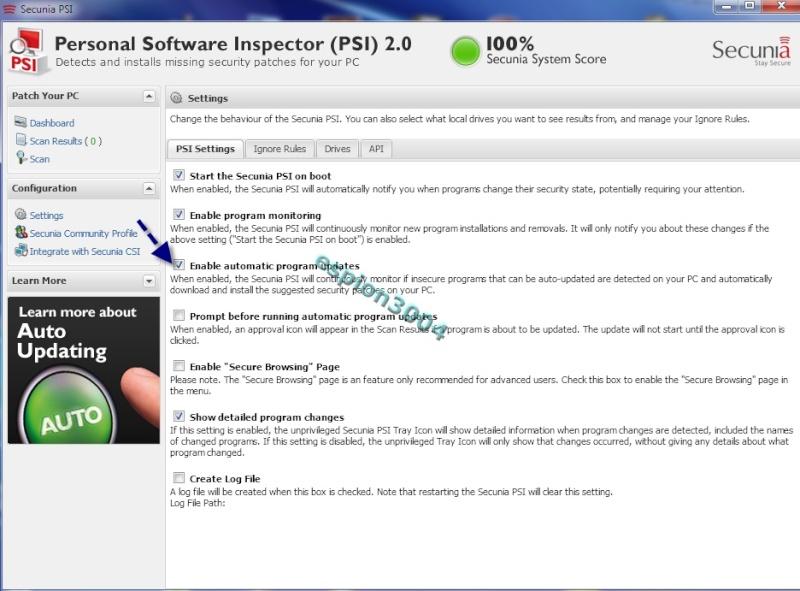 Secunia Personal Software Inspector (PSI) : Contre Les exploits et failles de sécurité dans les logiciels ! 05-06-14