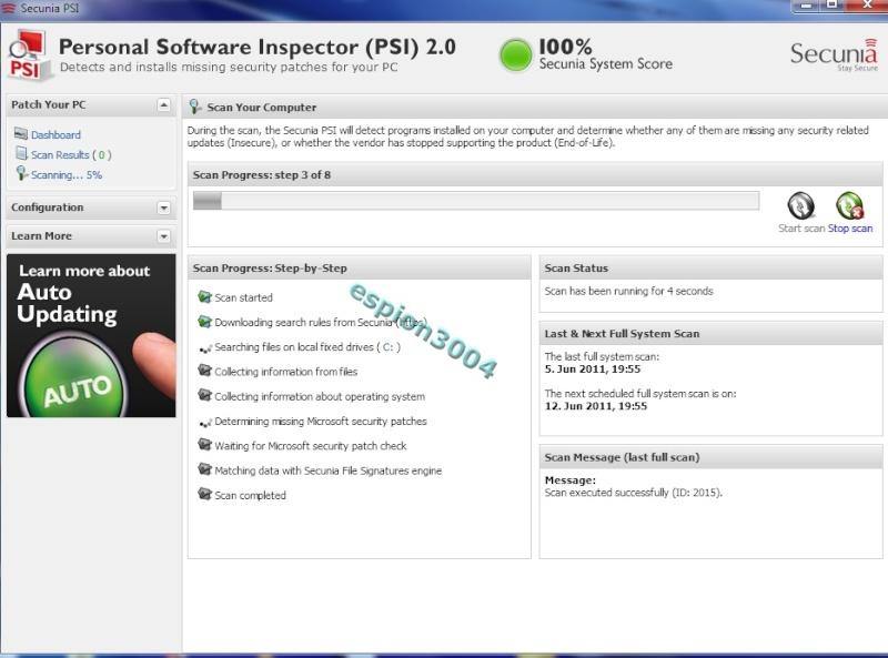Secunia Personal Software Inspector (PSI) : Contre Les exploits et failles de sécurité dans les logiciels ! 05-06-28
