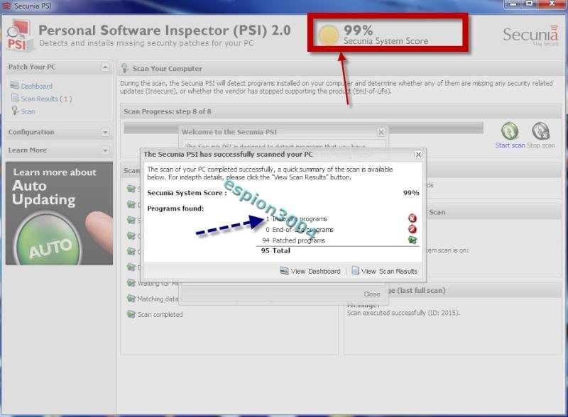 Secunia Personal Software Inspector (PSI) : Contre Les exploits et failles de sécurité dans les logiciels ! 05-06-29