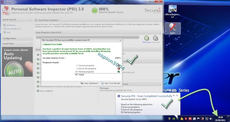 Secunia Personal Software Inspector (PSI) : Contre Les exploits et failles de sécurité dans les logiciels ! 05-06-33