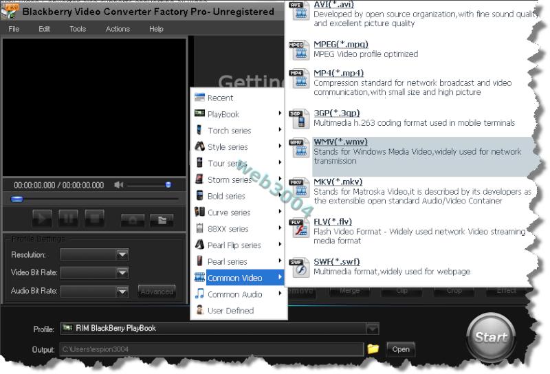 Téléchargez BlackBerry Video Converter Factory Pro [Promo] 11-05-10