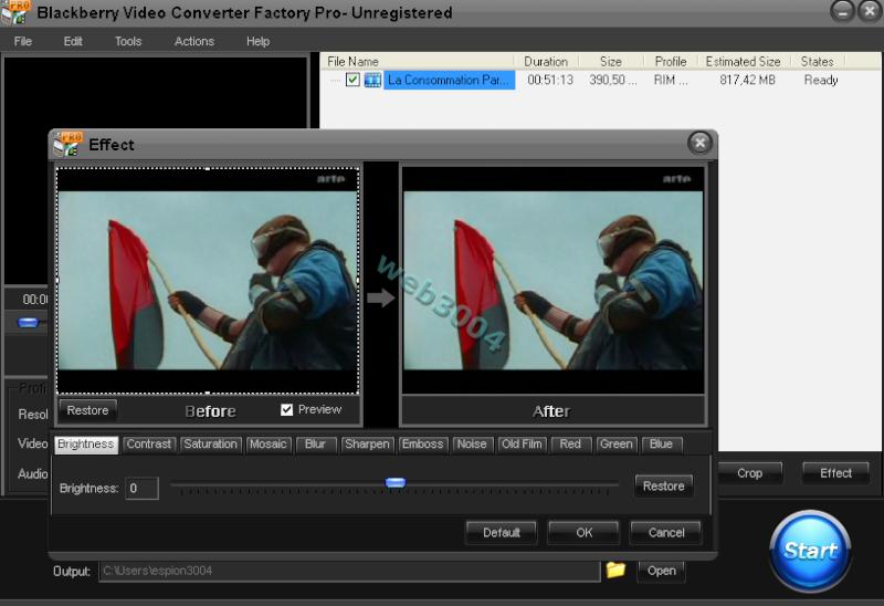 Téléchargez BlackBerry Video Converter Factory Pro [Promo] 11-05-11