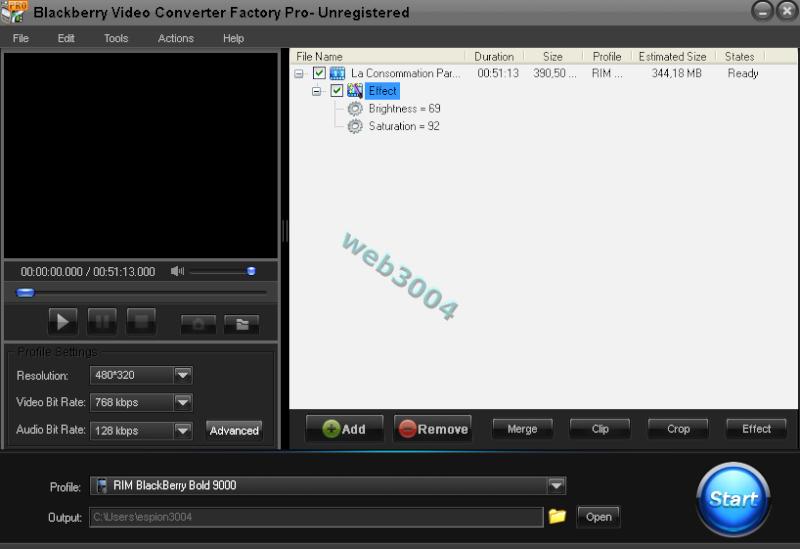 Téléchargez BlackBerry Video Converter Factory Pro [Promo] 11-05-12