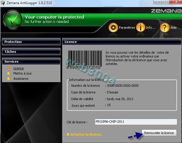 Télécharger Zemana AntiLogger gratuit pour 1 an ! 15-05-14