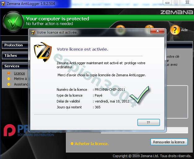 Télécharger Zemana AntiLogger gratuit pour 1 an ! 19-05-13