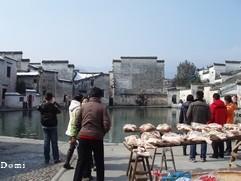 La Chine sac au dos (13) :  En route pour le Huangshan 黄山: Hangzhou 杭州 - Vieux villages de L'Anhui 安徽 Février 2008 9-hong10