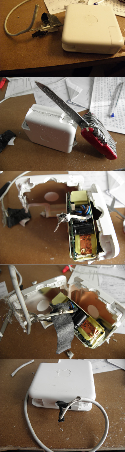 Ouvrir et réparer le chargeur d'ordinateur portable apple Ouvrir11