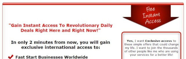 """""""Gain Instant Access To Revolutionary Daily Deals Right Here and Right Now!"""" Yeha10"""