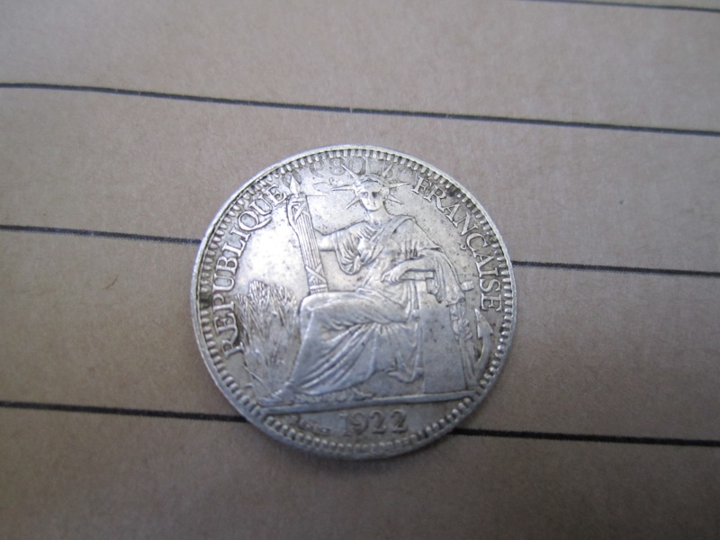 1922 French Indo China 10 Cent (see through?) Coin_110