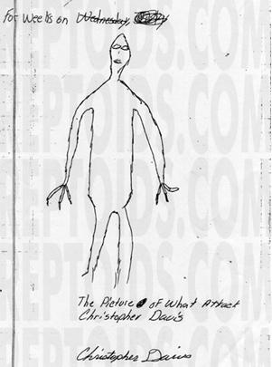 Cryptozoologie homme lézard de Bishopville Christopher Davis Rawson 1988 forum mythe et légende créature anthropoïde inconnu analyse du sang créature reptilienne