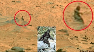 Cryptozoologie bigfoot Mars extraterrestre martien apparitions Andrew D. Basiago sasquatch photographie 2004 robot Mars Exploration Rover Spirit forum