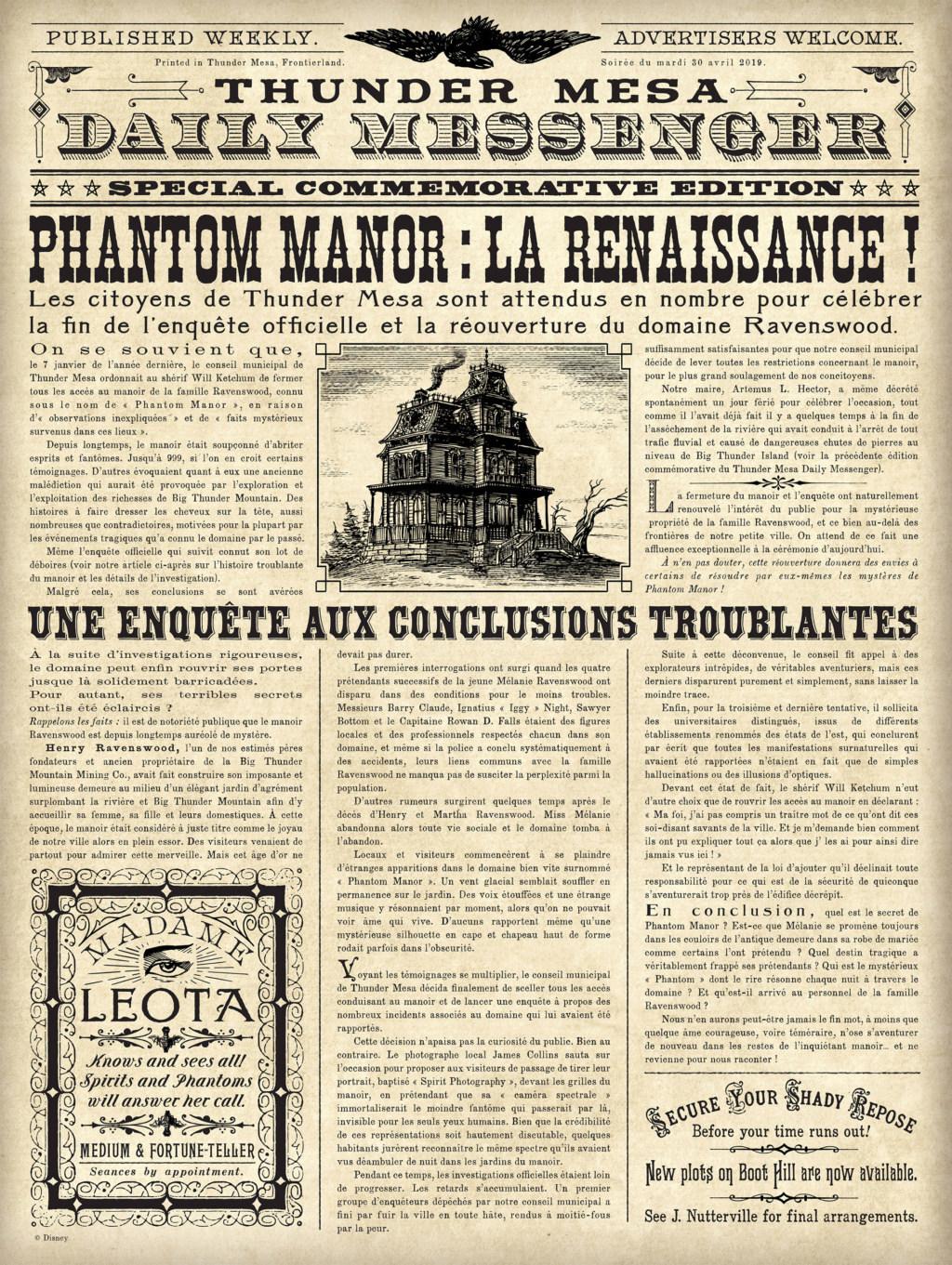 [Soirée] Grande Réouverture de Phantom Manor (30 avril 2019) - Page 13 Gazett10