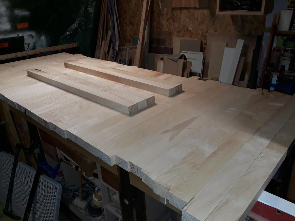 Escalier Droit en Frêne avec tiroirs  20200211