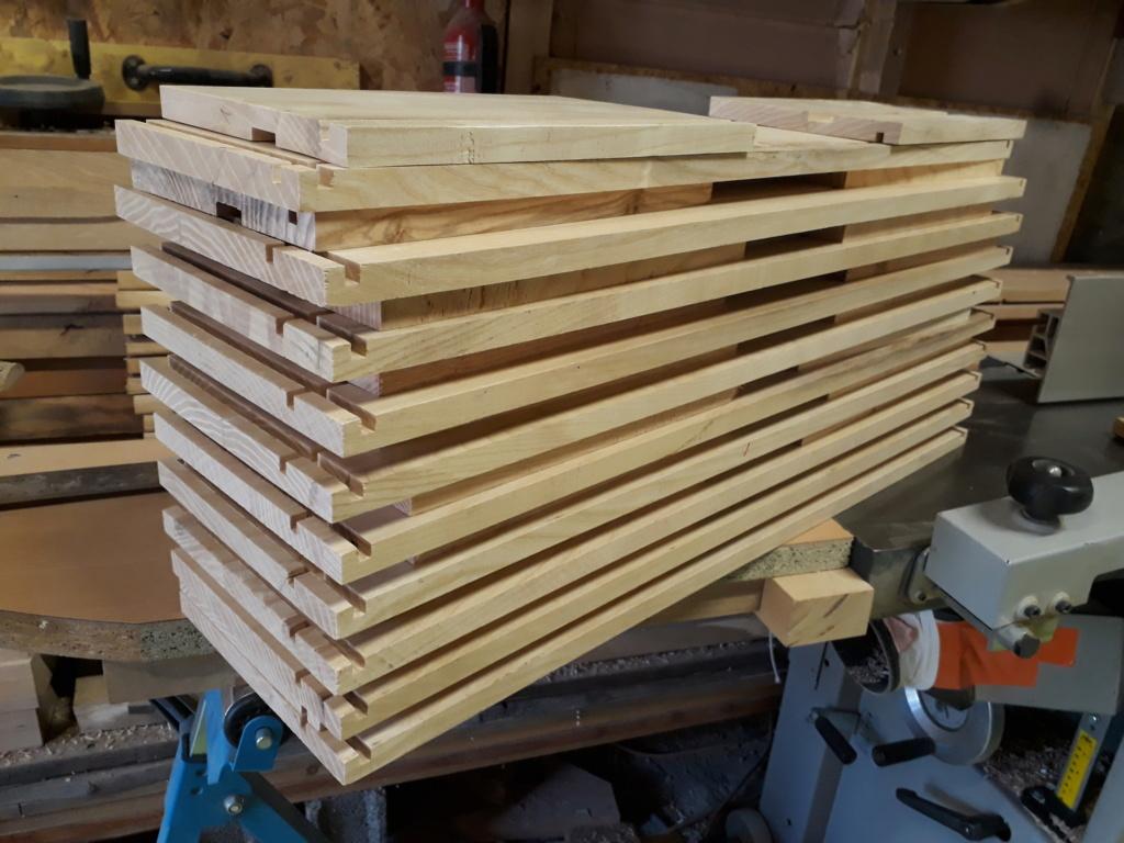 Escalier Droit en Frêne avec tiroirs  20200463