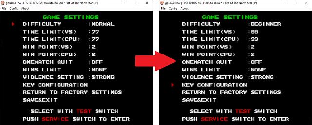 Tutoriel : modifier les paramètres de vos jeux Atomiswave - DC 612