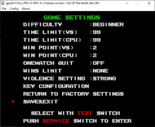 Tutoriel : modifier les paramètres de vos jeux Atomiswave - DC 710