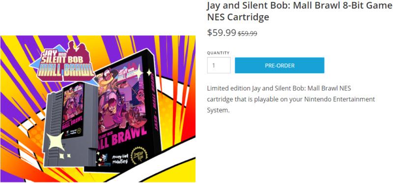 [NES] Jay and Silent Bob: Mall Brawl 8-Bit Game NES Cartridge Atata10