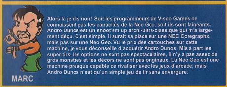 [AES] Andro Dunos, réédition 2021, la REVIEW C10