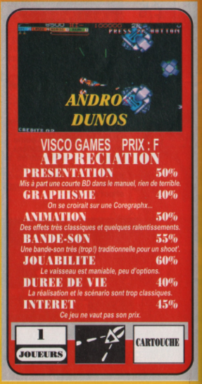 [AES] Andro Dunos, réédition 2021, la REVIEW C210