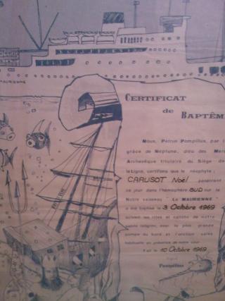 [ Les traditions dans la Marine ] LE PASSAGE DE LA LIGNE - ÉQUATEUR (Sujet unique) - Page 14 Certif11