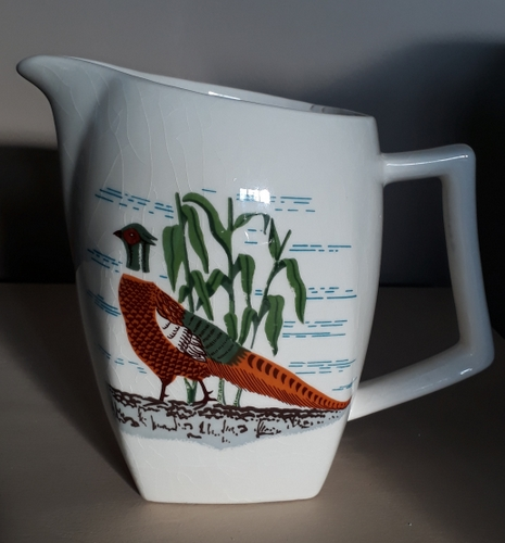 For gallery Titian Pottery pheasant jug  08-tit10