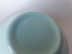 Paris desert bowl in limpid blue green glaze 096-cl10
