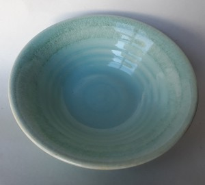 Paris desert bowl in limpid blue green glaze 097-cl10
