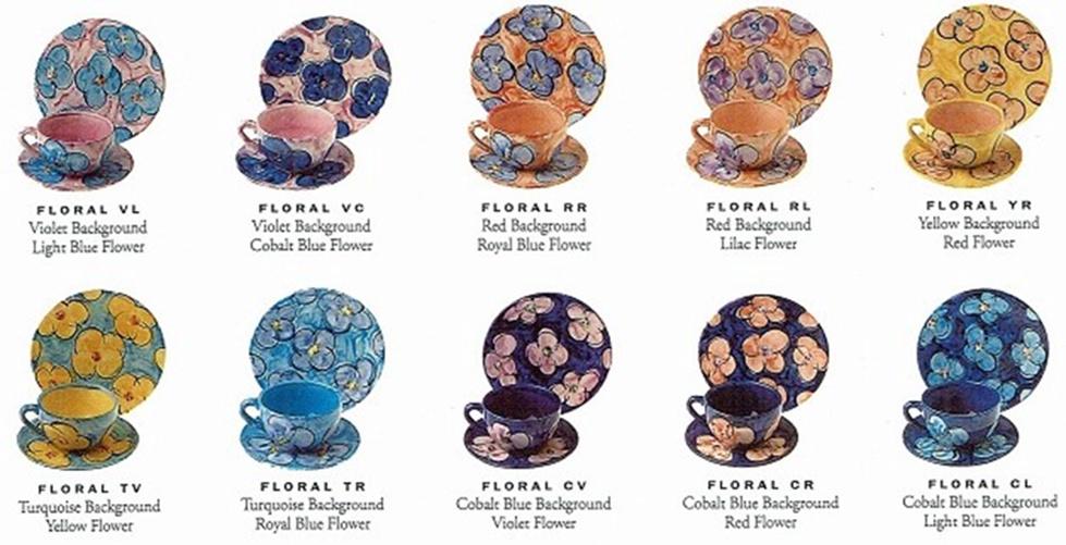 Christine Harris patterns (especially Floral)  Dinner14