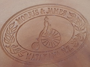 For gallery Morris and James advertising plate  Morris12