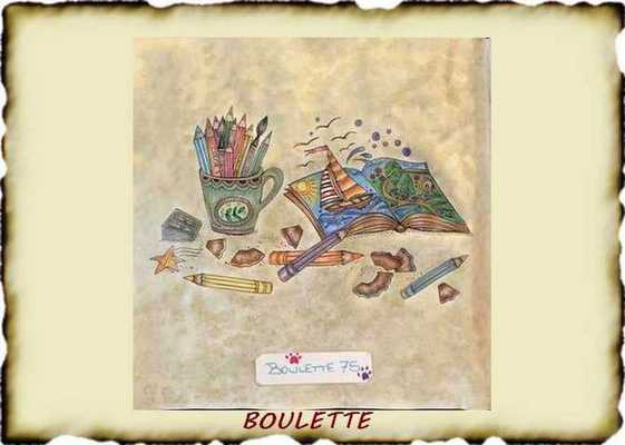 Crayons Metallic colors  Boulet29