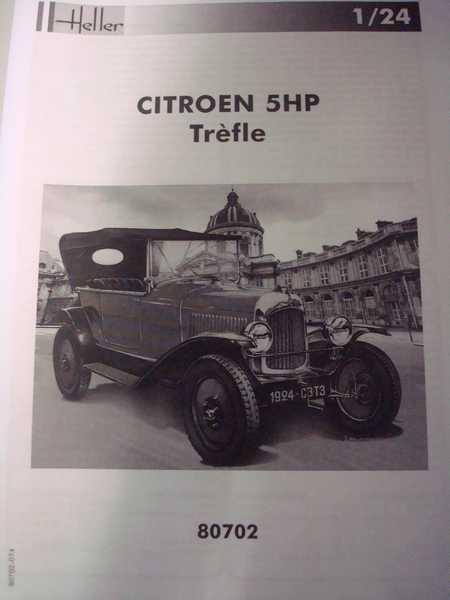 """Ouvre boite HELLER La 5 cv Citroën """"Trêfle"""" au 1/24 Dsc03061"""