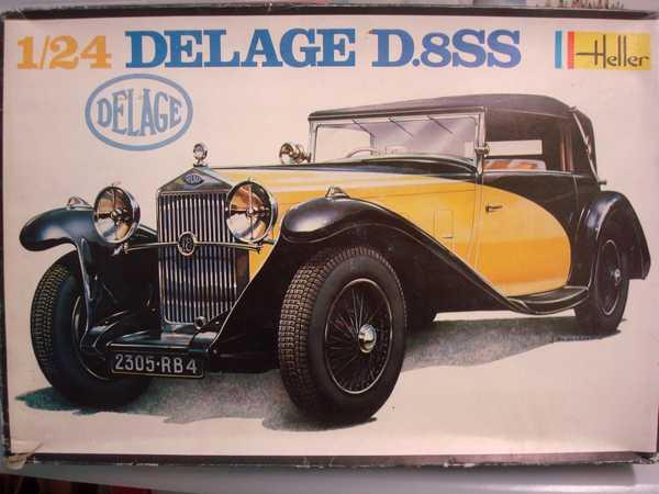 Delage D.8 SS (Heller) 1/24/Vitrine Chanel Dsc03542
